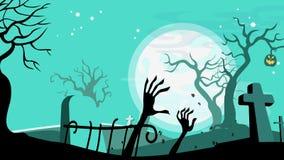 Halloween cartoon seamless looped animated background. stock video