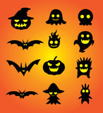 Halloween cartoon set. Ghost cartoon set for Halloween design pattern and other job Stock Images