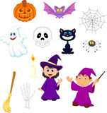 Halloween cartoon set Stock Photo