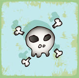 Halloween cartoon skull , vector icon. Royalty Free Stock Images