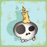 Halloween cartoon skull , vector icon. Stock Image