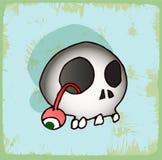 Halloween cartoon skull , vector icon. Royalty Free Stock Photos
