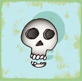 Halloween cartoon skull , vector icon. Stock Photo