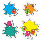 Halloween cartoon sticker set Royalty Free Stock Photography