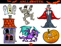 Halloween Cartoon Themes Set Royalty Free Stock Image