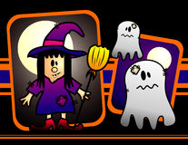 Halloween cartoon witch vector Royalty Free Stock Photography
