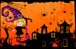 Halloween cartoon witch vector Royalty Free Stock Photo