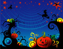 Halloween cartoon witch vector Stock Photography