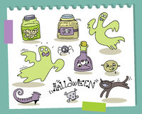 Halloween cartoons Stock Photo