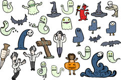 Halloween cartoons Stock Image