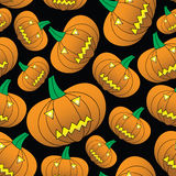 Halloween carved pumpkin seamless pattern Royalty Free Stock Image