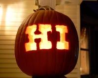 Halloween carved pumpkin Stock Photos