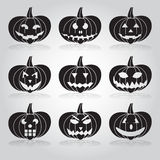 Halloween carved pumpkins set Royalty Free Stock Photo