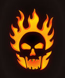 Halloween carved skull Royalty Free Stock Images