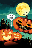 Halloween Carving Party Background Stock Image