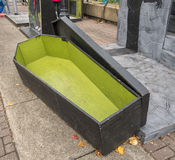 Halloween casket Stock Photo