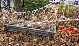 Halloween casket Stock Photography