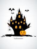 Halloween castel Stock Afbeeldingen