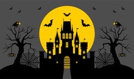 Halloween, castello Illustrazione di vettore fotografia stock libera da diritti