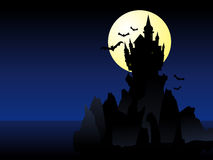 Halloween Castle Royalty Free Stock Photos