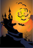 Halloween castle Stock Images