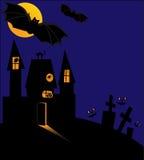 Halloween castle Stock Photos