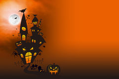 Halloween Castle Royalty Free Stock Images