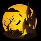 Halloween castle Royalty Free Stock Photos