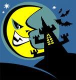 Halloween castle Stock Images