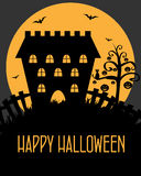 Halloween castle card Royalty Free Stock Photography