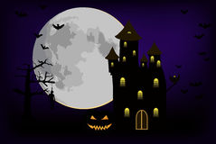 Halloween castle Royalty Free Stock Photography
