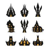 Halloween castle set for Halloween. On a white background Royalty Free Stock Photography
