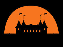 Halloween castle vector Stock Photos