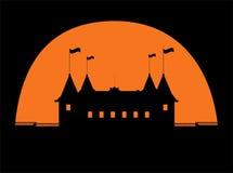 Halloween castle vector. Illustration art Stock Photos