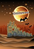 Halloween castle Stock Photo