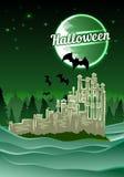 Halloween castle. Vector illustration 4 your design, eps10 6 layers easy editable Stock Photos