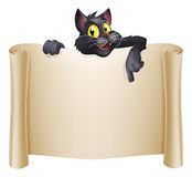Halloween Cat Banner Fotografia Stock