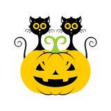 Halloween cat icon. Vector illustration. Halloween cat icon or logo in modern line style. Vector illustration royalty free illustration