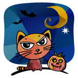 Halloween cat Royalty Free Stock Image