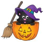 Halloween cat theme image 1 Royalty Free Stock Photography