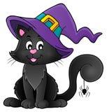 Halloween cat theme image 2 Stock Photo