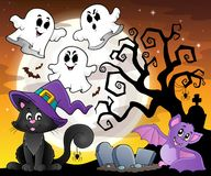 Halloween cat theme image 6. Eps10 vector illustration Royalty Free Stock Images