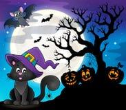 Halloween cat theme image 8 Royalty Free Stock Photography