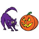 Halloween Cat Royalty Free Stock Photography