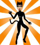 Halloween Cat Woman Stock Photography