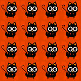 Halloween cats. Halloween black cat seamless pattern Royalty Free Stock Photography