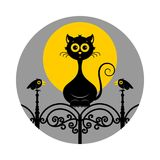 Halloween cats. Vector illustration. Halloween cats icon or logo in modern line style. Vector illustration vector illustration