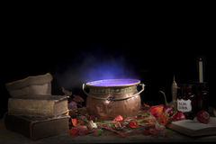 Halloween cauldron Royalty Free Stock Photography
