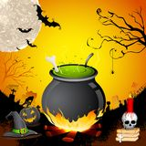 Halloween Cauldron Stock Photography
