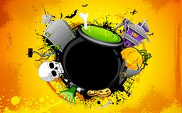 Halloween Cauldron Stock Image
